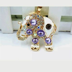 Gorgeous Purple Elephant Sweater Necklace
